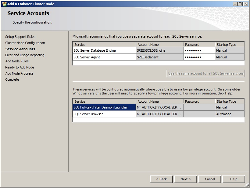 how to add a node to wfcs 2008