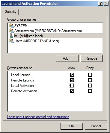 Connecting to the Integration Services service on the computer