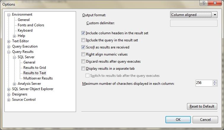Obtaining Pipe Delimited Results from SQL Server using SSMS – MSSQLTREK