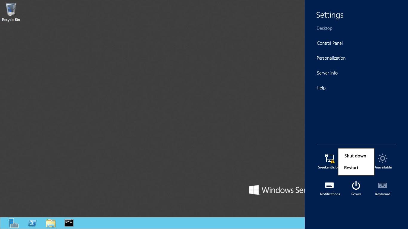 Logout log off in windows server 2012 mssqltrek for Window off screen