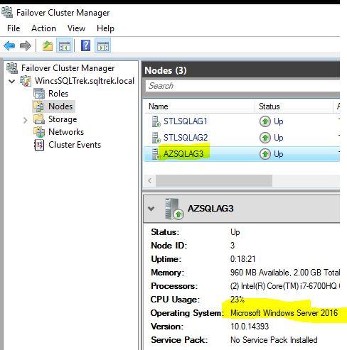 Upgrading Windows Failover Cluster 2012R2 to 2016 – MSSQLTREK